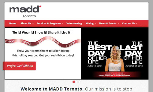 MADD Canada Chapter Websites